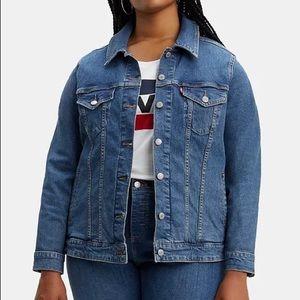 Levi's plus size ex boyfriend trucker denim jacket